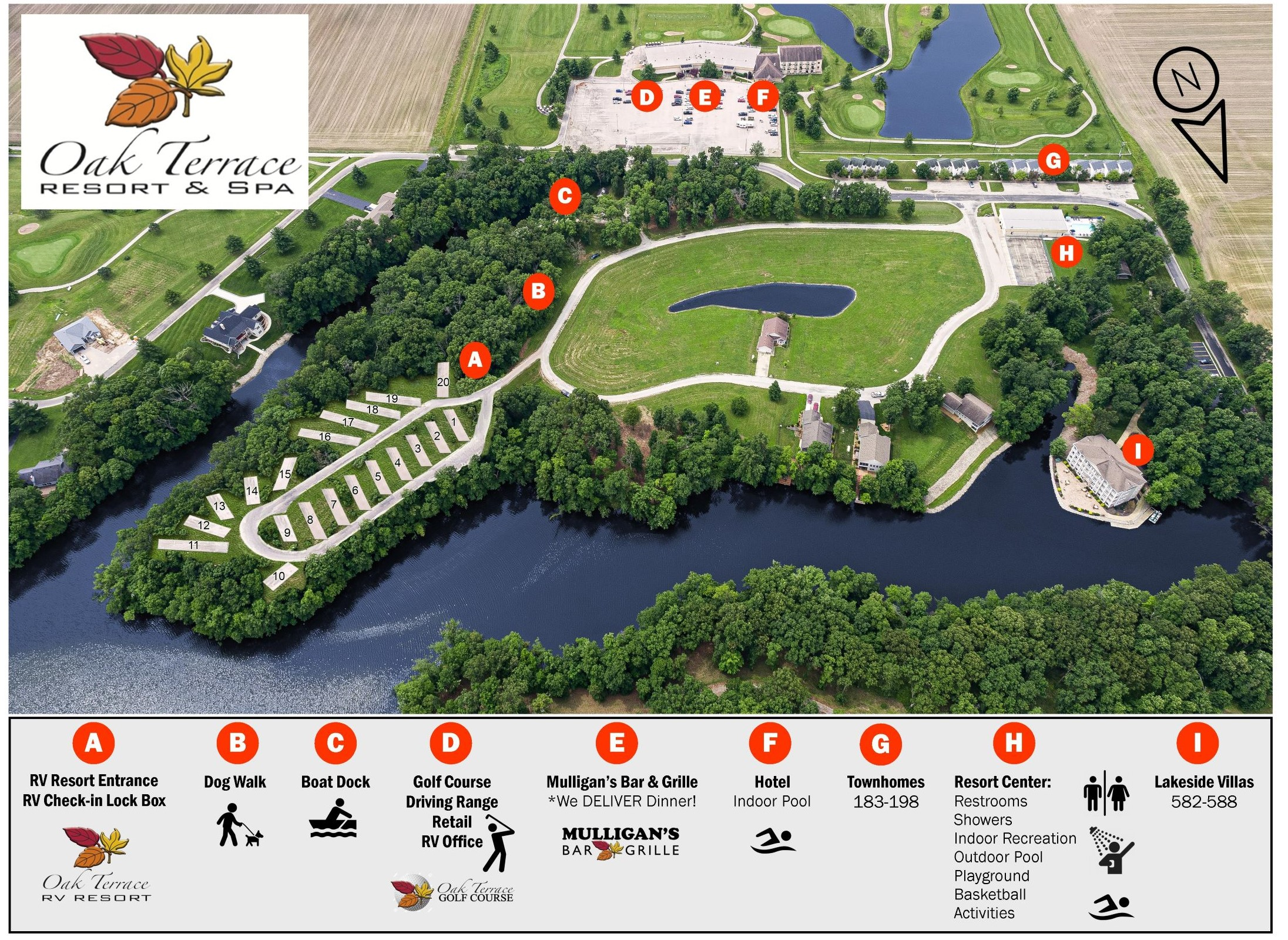 RV Resort Site Map