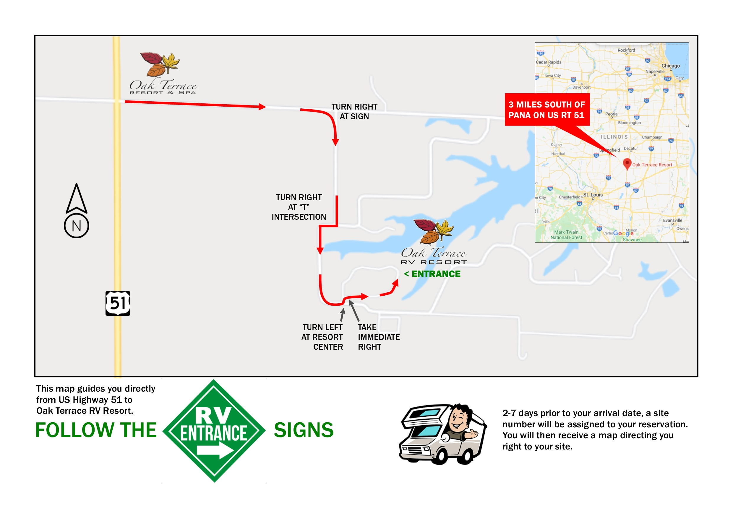 RV Entrance Map